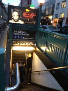 Subway entrance near the USPO
